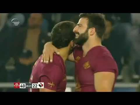 Georgian wing Soso Matiashvili scores an unbelievable try against Canada.