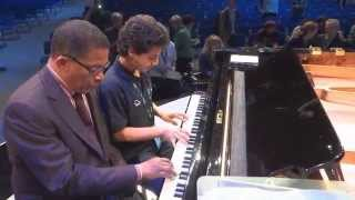 HERBIE HANCOCK jamming with 13 y.o. GEORGIE HERRERA at O2 World Berlin. Cantaloupe Island