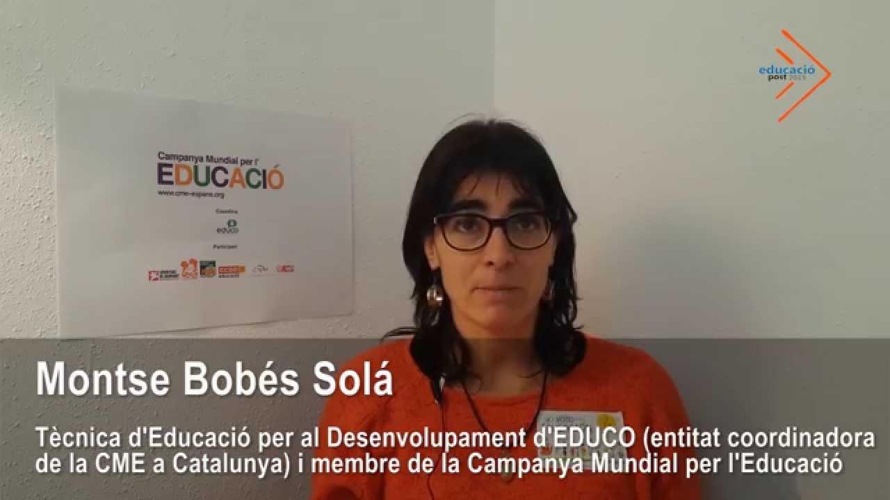 Campanya Mundial per l'Educació: Reptes a assolir i noves propostes - Montse Bobés i José Mansilla