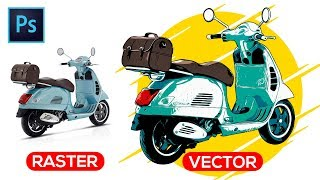 How To Vectorize An Image (Photo To Vector) - Photoshop Tutorial