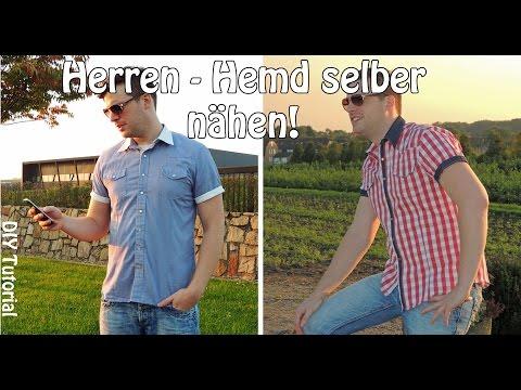 HERREN HEMD - NÄHEN FÜR MÄNNER | DIY | Nähen für Anfänger | Tutorial
