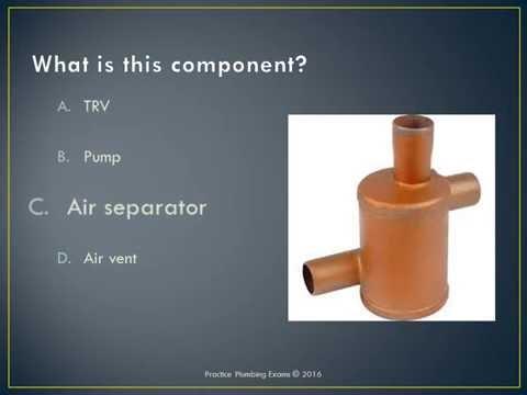 Central heating plumbing exam Practice Plumbing Exams / Test and ...