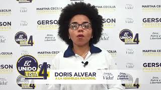 Doris Alvear, Candidata Asambleísta del Ecuador 2021.