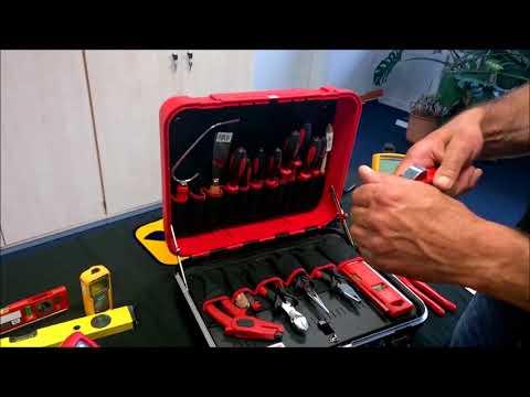 Lehrlingskoffer Azubikoffer Werkzeugkoffer für Elektriker Cimco 172004 mit 23 Profiwerkzeugen EZUBI
