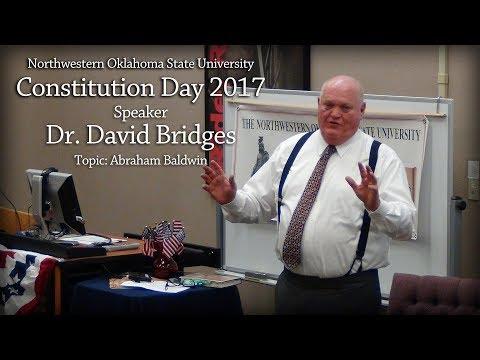 2017 Constitution Day - Dr.  David Bridges on Abraham Baldwin