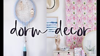 DIY Dorm Decor | Room Decor Ideas And Hacks For Student Accommodation And Small Spaces