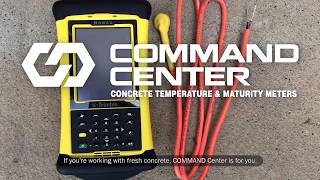 COMMAND Center Concrete Temperature and Maturity Meters