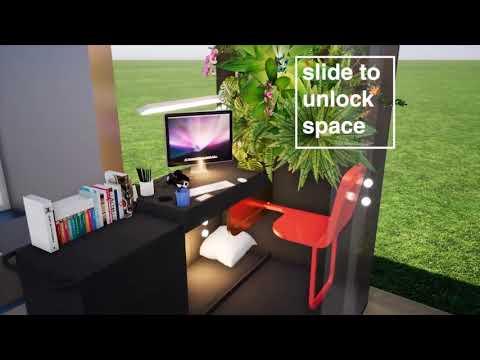 ห้องสวนแนวตั้งเทียมสมัยใหม่ 2050 (Green Mini House)