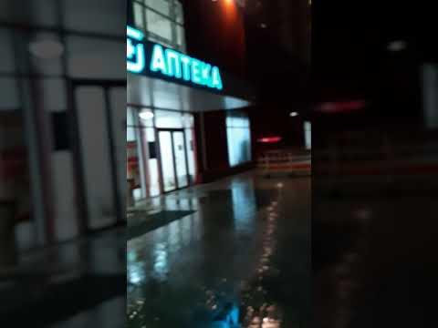 Вид на Екатеринбург, микрорайон виз, во время дождя.