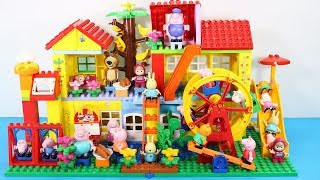 Peppa Pig Building House With Water Slide Toys For Kids - Lego Duplo House Creations Toys #5