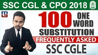 100 One Word Substitution | English | SSC CGL | CPO 2018 | 5:00 pm