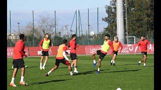 آخر حصة تدريبية للمنتخب الوطني للاعبي المنتخب المغربي المحلي قبل التوجه الى الكامرون