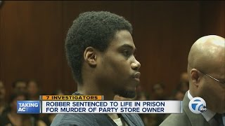 Life sentence in party store owner's murder