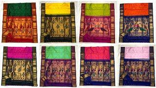 Great Demand Handloom Pure Paithani Silk Sarees With Free Shipping