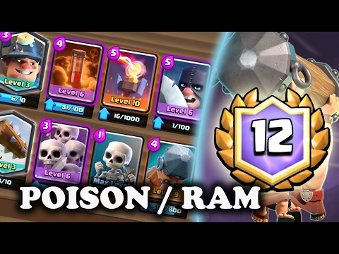 Battle Ram/Poison/Miner   12 Win Grand Challenge Deck