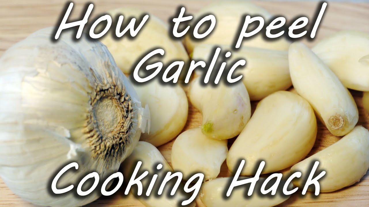 How to Peel Garlic - Life Hack thumbnail