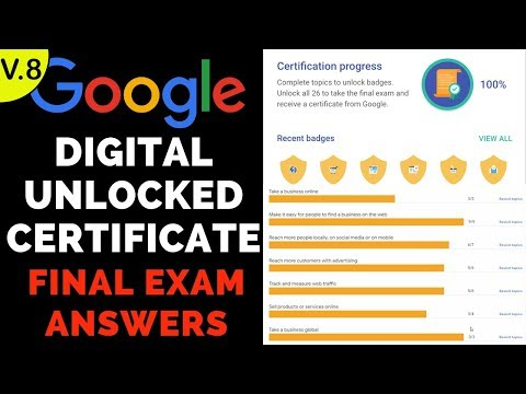 Google Digital Unlocked Certificate Final Exam Answers - October ...