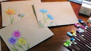 DIY Pretty Kraft Paper Envelopes