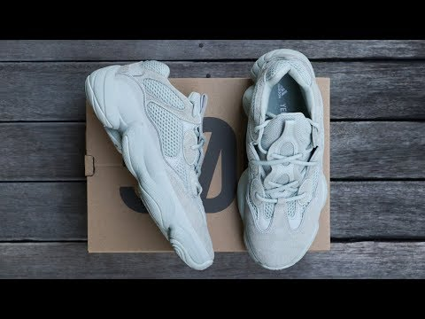 "f7857979c Adidas Yeezy 500 ""salt"" on feet   dress tutorial 🔥🔥🔥 - смотреть ..."
