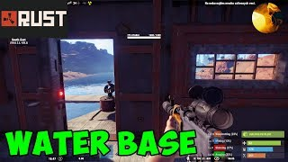 Water base in Rust game / Another base tour - Unraidable water base in Rust