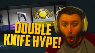 DOUBLE KNIFE HYPE?! (CS:GO Case Opening) $800 Opening Part 2