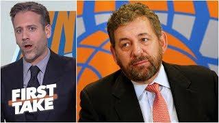 Knicks owner James Dolan is a 'rotten fish head' villain - Max Kellerman l First Take