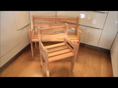 DIY Kinderbank und Kinderstuhl