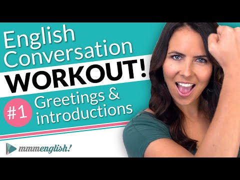 English Conversation Training ⚡️ Pronunciation Workout #1
