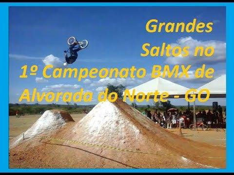 Grandes Saltos no 1º Campeonato BMX de Alvorada do Norte GO