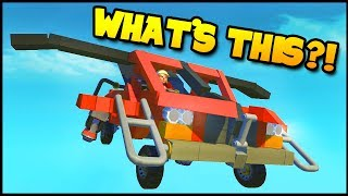 The Technology Of The FUTURE! Awesome Offroader Turns Into FLYING CAR! - (Scrap Mechanic)