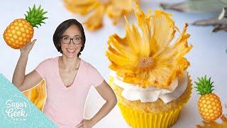 Easy Dried Pineapple Flowers