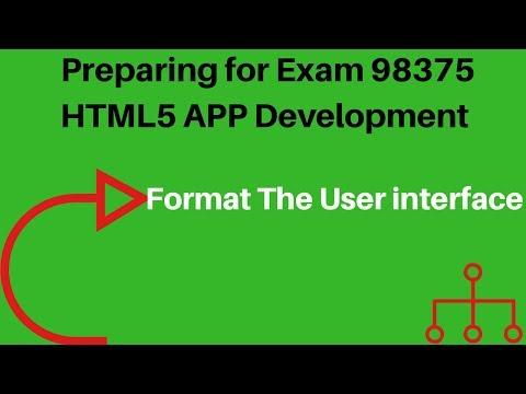 Preparing for Exam 98-375: HTML5 App Development ... - YouTube