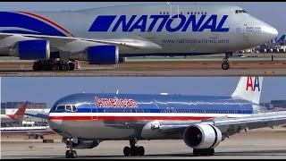 (HD) Airliners, Jumbo Jet Landings and Airport Action - Planespotting Chicago O'Hare