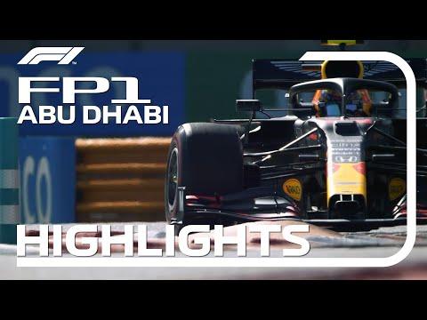 F1 第17戦アブダビGP FP1ハイライト動画