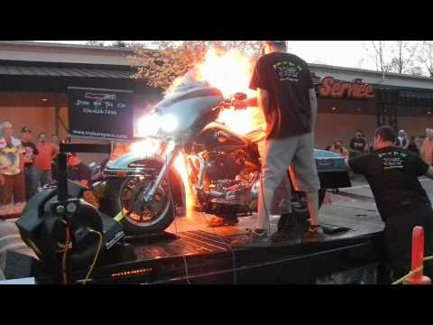 Watch A Nitrous Backfire Turn A Motorcycle Rider Into A Human Torch