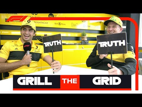 Video | Grill the Grid met Hulkenberg en Sainz: 'Lukte niet om te plassen in auto'