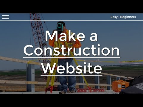 , title : 'How to make a Website for a Construction Company (2020) |  Tutorial for beginners