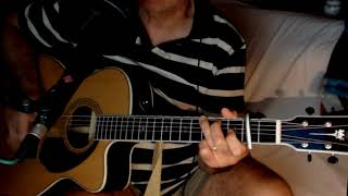The Beast In Me ~ Nick Lowe - Johnny Cash ~ Acoustic Cover w/ Fender PM-3 Deluxe 000 NT
