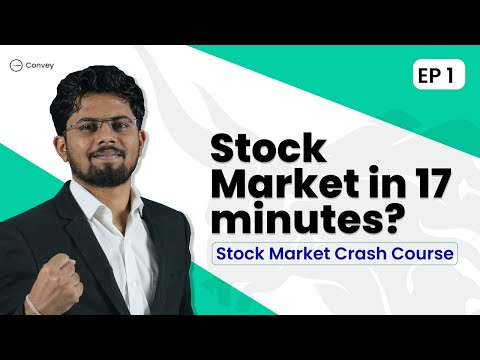 EP1 : Stock Market Crash Course   From Beginner To Expert   EP 01   Explained In Hindi   Best course