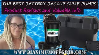 Best Battery Backup Sump Pumps on the Market for 2019