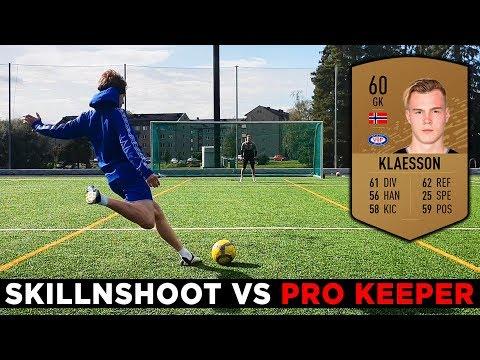 HOW GOOD IS A 60 RATED KEEPER IN REAL LIFE? skillNshoot vs Pro Goalkeeper