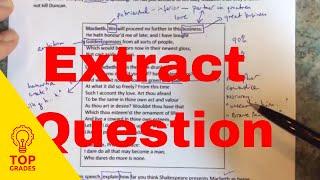Shakespeare Extract Question Walk Through Using Macbeth