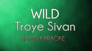 Wild   Troye Sivan (Official Piano Karaoke Instrumental Lyrics Cover Sing Along)