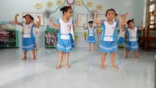 Bé vui khỏe đẹp - múa văn nghệ mẫu giáo Tân Thuỷ