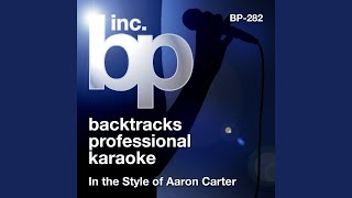 Summertime (Karaoke Instrumental Track) (In the Style of Aaron Carter)