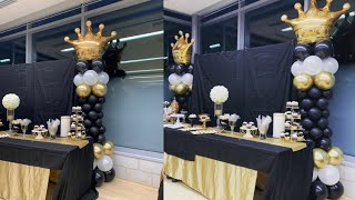 Crown 👑 Balloon Column