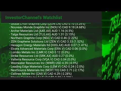 InvestorChannel's Graphite Watchlist Update for Tuesday, J ... Thumbnail