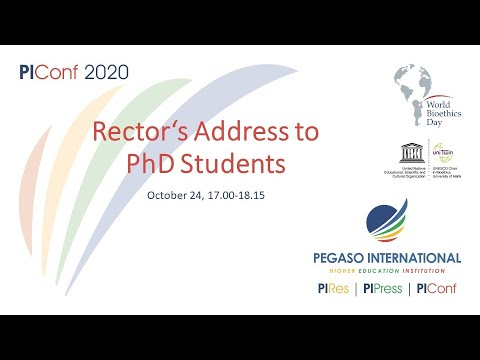 Rector's Address to PhD Students