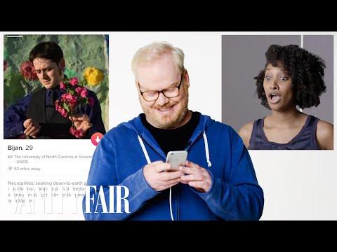 Jim Gaffigan Hijacks a Stranger's Tinder   Vanity Fair