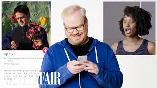 Jim Gaffigan Hijacks a Stranger's Tinder | Vanity Fair